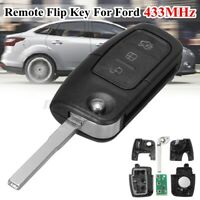 For Ford BF FG Falcon Territory Mondeo FPV 3 BTN Transponder Flip Remote   +