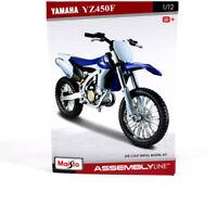 1/12 Maisto YAMAHA YZ450F Assembly Line DIY Motorcycle Diecast Metal Model kit