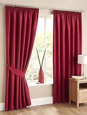 Cotton Blend Tape Top Contemporary Curtains & Pelmets