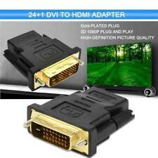 Adaptador De Cable DVI HDMI Convertidor 1080P Enchufe Proyector Black C3A4