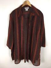 CHALOU Bluse, schwarz orange gestreift, Größe 54