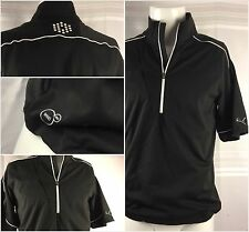Puma Jacket Golf Pullover Small Black Poly Spandex 1/4 Zip Mint Ygi 56gg