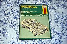 VAUXHALL ASTRA 1980 - 1981 RARE Haynes Manual No. 635 FREE POSTAGE