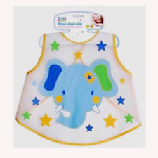 First Steps Wipe Clean Bibs with Animal Prints