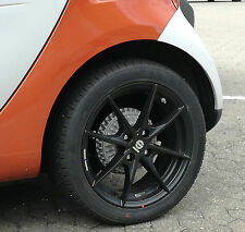 Winter Tyres Smart Forfour 453 Alloy Wheels Sparco Trofeo Black Kumho