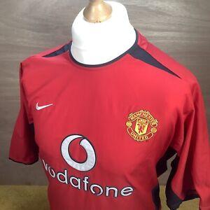XL Manchester United 2002/4 Home Shirt - VTG Retro Original Nike Top - Man Utd