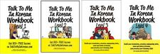 Talk To Me In Korean Workbook Level1+2+3+4 GET 800 + lessons Hangul to Learn
