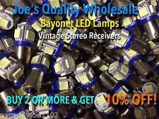 New listing (100)Bayonet Led Lamps-6.3V/Ac-Cool Blue-Mc/Mac/Amp Front Panel-Ba9s/Vintage-Amp