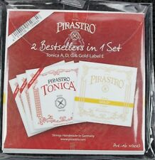 Pirastro Tonica A,D,G and Gold label E 4/4 violin set ball end