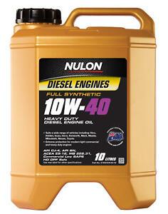 Nulon Full Synthetic Heavy Duty Diesel Engine Oil 10W-40 10L SYND10W40-10