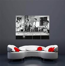 THE RAT PACK PHOTOGRAPH BLACK WHITE POOL BILLIARDS GIANT ART PRINT POSTER OZ659