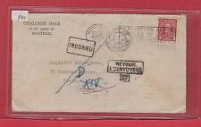 3 cent 1935 issue to FRANCE INCONNU returned DLO Dead Letter 1937 Canada cover