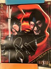 Farscape Wayne Pygram 'Scorpius' Signed Banner 19.5� X 16� from convention