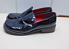 Franco Sarto Flex Women Black/Red Patent Leather Slip On Loafer Heel  Shoes 8.5M