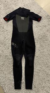 Billabong Mens Wetsuit Streamer 3/2 Short Arm  Size XL Black Surf Dive Swim