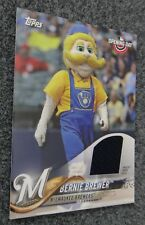 BERNIE BREWER 2018 TOPPS OPENING DAY MASCOT WORN RELIC 1 IN 4,700 PACKS!
