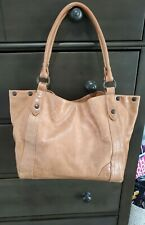 Frye Leather Melissa Tote Purse Handbag Satchel Bag - Cognac