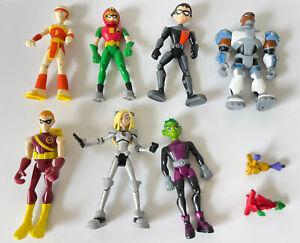 "Teen Titans Go Figures Lot 3.5"" Lot Of 7 Terra Beast Boy Others"