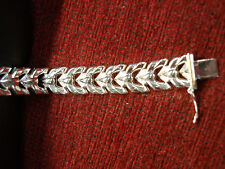 NICE STERLING SILVER FANCY LINK BRACELET THAT YOU MAY LIKE - HAVE A LOOK