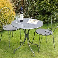 Garden Bistro Set Patio Outdoor Furniture Metal Coffee Table Seats Chairs Modern