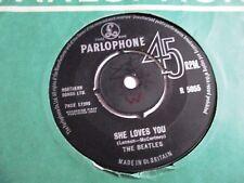 Los Beatles que ella te ama C/W yo te llevará Parlophone Records 1963 Primera Edición
