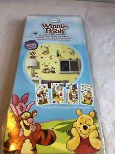 NEW Disney Winnie the Pooh Self-Stick Room Wall Appliques Stickers decals decor