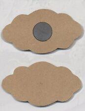 2 Aimants en MDF Nuage 10x5,7 cm à décorer 2 Cloud Magnets