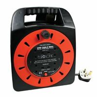 25M Extension Lead Reel 4 Way with Protection 13A  240v