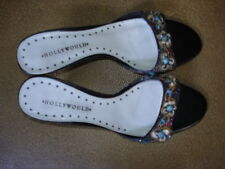 01f3244e769f Hollywould 8 1 2 B black 2 1 4 inch sandals seashells++