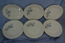 Hutschenreuther Alicia Blue Rose (6) Salad Plates, 7 3/4""