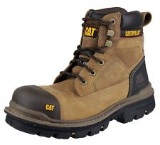 Caterpillar Mens Gravel 6 Inch Leather Work Safety BOOTS Brown UK Size 10 (eu 44 US 11) 077896882317