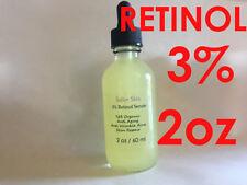 Retinol 3% Clinical Strength Organic Hyaluronic Acid Retinol Aging Wrinkle 2 oz