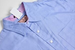 Thomas Pink Solid Light Blue Point Collar Dress Shirt Size: Medium