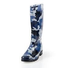 Pally Womens Flat Rain Boots Rubber Snow Mid Calf  Waterproof Rainboots