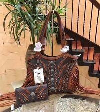 Western Montana West Concealed Handgun Fringe Tribal Saddle Handbag & Wallet Set