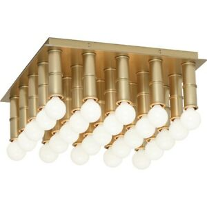 Robert Abbey Jonathan Adler Meurice 25 Light Flushmount, Modern Brass - 689