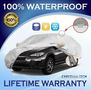 100% Weatherproof Full SUV Cover with Door Zipper For Subaru Crosstrek [05-20]