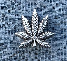 "Western Equestrian Tack Marijuana Leaf 1 1/4""  X 1"" Concho's Set of 6"