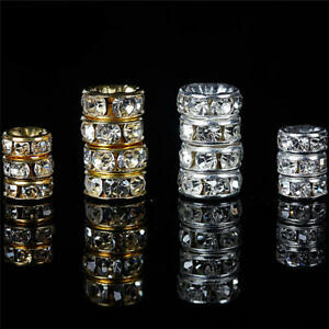 40/80Pcs 6 8mm Crystal Rondelle Loose Beads Jewelry Making Necklace Bracelet