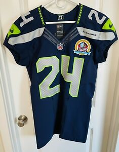 Authentic Marshawn Lynch Seattle Seahawks Nike 42 Jersey GAME CUT TEAM ISSUED