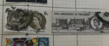 Gb 1965 set Of Two 700th Anniversary of Parkiament Stamps