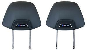 2X ORIGINAL Skin Headrest MERINO BLACK SEATS M5 8071313 BMW M5 F90 G30 G31