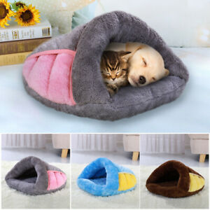 Pet Cat Dog House Kennel Puppy Cave Sleeping Bed Soft Mat Winter Warm Nest S M L