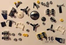 LEGO WHEELS with AXLES, Propellers, Vehicle Parts - NEW As pictured