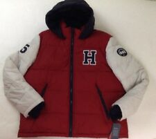 New Tommy Hilfiger Mens Red White Midnight Varsity Puffer...