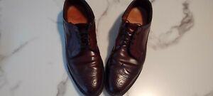 Allen Edmonds MacNeil Shell Cordovan Burgundy Wingtip Blucher Shoes Mens Sz 12A