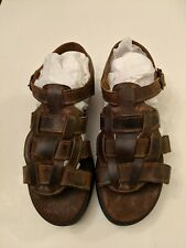 Eastland Women's Sandals Shoes Brown Leather Buckle Strap Fisherman Sz 8
