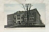 * Public School GRAYVILLE ILLINOIS Postcard unused