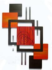 Red Orange Brown -Rant n Rave- Wall Sculpture, Wall Hanging, 34 x 24 Wall decor