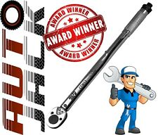 "1/2"" Square Drive Ratchet Torque Wrench Calibrated Tool 28 - 210 Nm with Case"